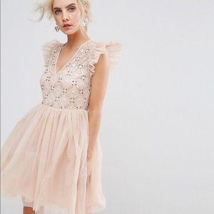 ASOS Pink and Champagne Bridesmaid Dress